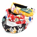 Koreas new Mori series beautiful flower headband hair headband wild wide brim fabric hair accessories NHCL263615