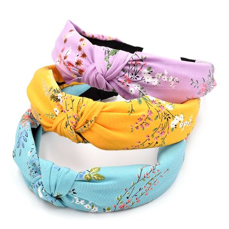 Autumn and winter small plum blossom headband cloth knotted flower headband NHCL263616's discount tags