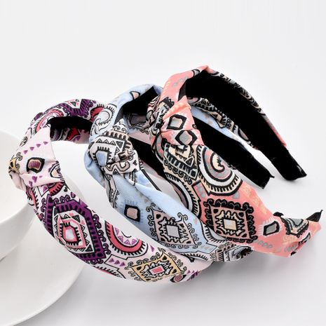 retro pattern Baroque headband ethnic bohemian girls fabric hair accessories NHCL263620's discount tags