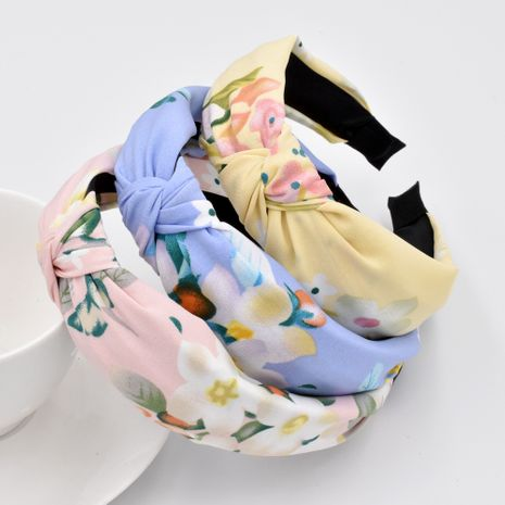 Nueva diadema de flores Retro anudada Mori, accesorios para el cabello cómodos prensados para niñas coreanas NHCL263624's discount tags