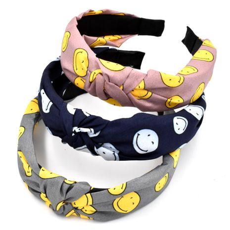 fabric individual simple smiley hairband girls retro knotted wash face hairpin hair accessories  NHCL263625's discount tags