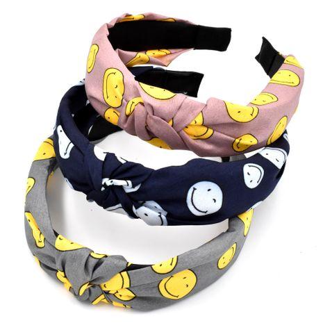 Tela individual simple smiley hairband niñas retro anudado lavado cara horquilla accesorios para el cabello NHCL263625's discount tags