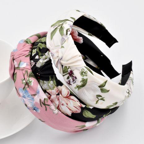 Retro mori anudado flor grande diadema niñas lavar la cara accesorios para el cabello de flores simples NHCL263626's discount tags