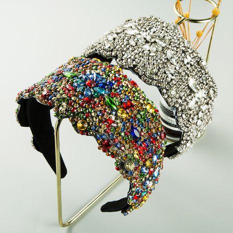 nouveau bandeau à larges bords en strass coloré étoilé super exagéré chapeaux en tissu de luxe pour femmes NHLN263631's discount tags