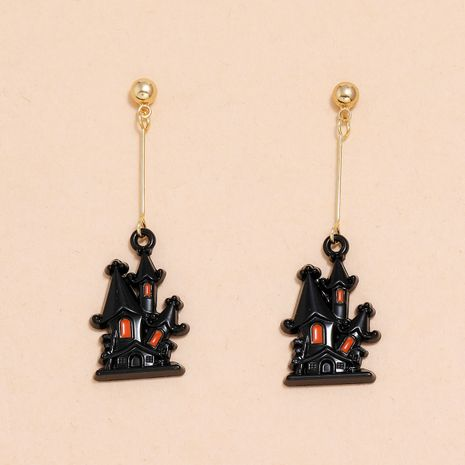 Halloween witch dripping oil castle long tassel earrings  NHPV263665's discount tags