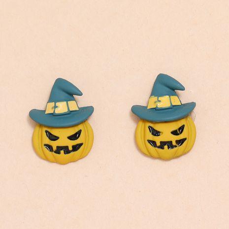 Halloween fun petites aiguilles d'oreille chapeau en alliage boucles d'oreilles petit diable NHPV263669's discount tags