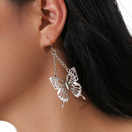 neue Art Retro Ohrringe Silber Blume Schmetterling Form Anhänger Ohrringe NHPV263689's discount tags