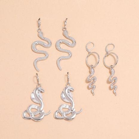 Nuevo conjunto de pendientes de plata con llavero de serpiente cobra NHPV263693's discount tags