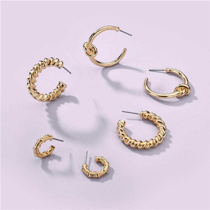 Fashion new environmentally 3 pairs of alloy earring set for women NHLU263724