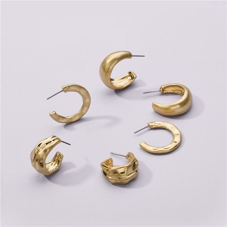 Fashion new environmentally friendly alloy 3 pairs alloy earrings set NHLU263736's discount tags