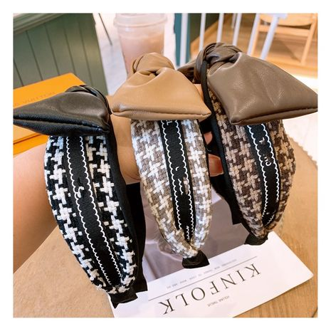 Korean jewelry hair accessories fashion houndstooth plaid headband hairpin  NHHD263759's discount tags