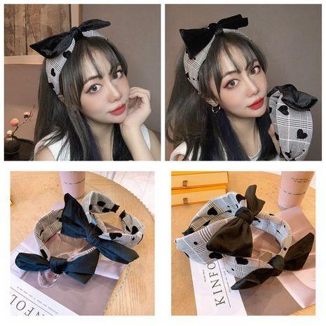 Korean fashion hair accessories fabric houndstooth wide-brimmed bow non-slip headband NHHD263764's discount tags