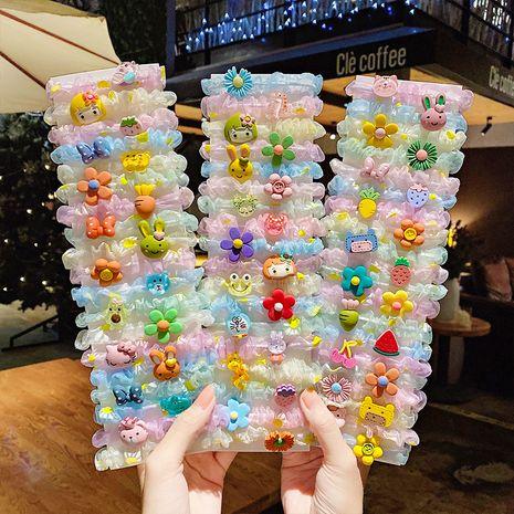 Coréen gros intestin cinq pièces bande dessinée cravate cheveux bande de caoutchouc fil net chouchous pour enfants NHNA263777's discount tags