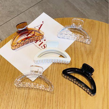 bath catch clamp plate wild hollow shark clip girls arc hairpin hair accessories NHNA263785's discount tags