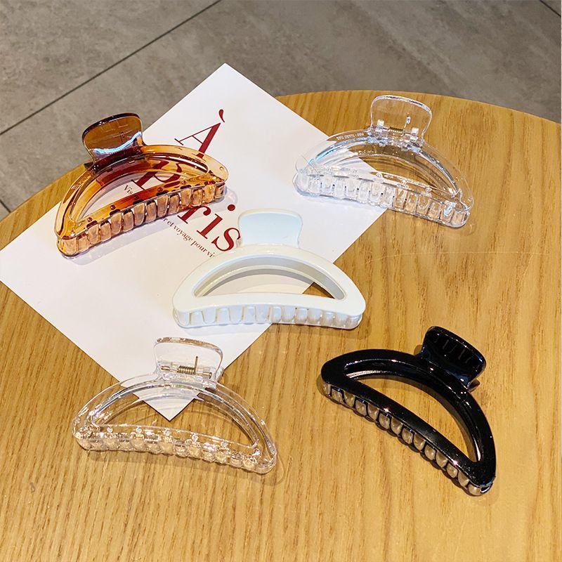 bath catch clamp plate wild hollow shark clip girls arc hairpin hair accessories NHNA263785