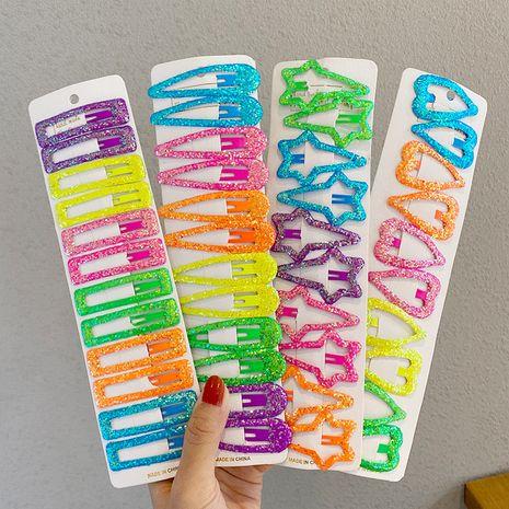 Le clip latéral des filles étoiles pour enfants de couleur bonbon définit des accessoires de cheveux en épingle à cheveux en poudre libre pour les femmes NHNA263788's discount tags