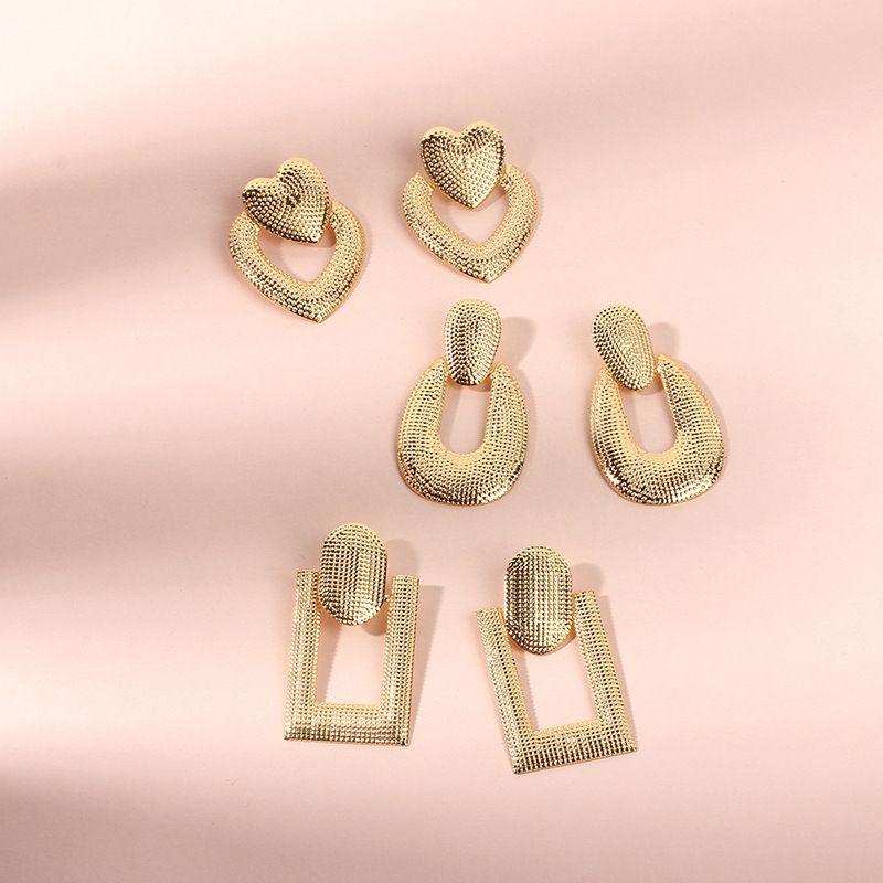 simple fashion heart-shaped U-shaped Korean earrings small jewelry  NHRN263828