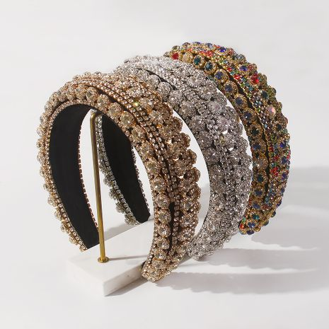 Fashion new women's baroque diamond-studded thick sponge hair accessories wholesale NHMD263866's discount tags