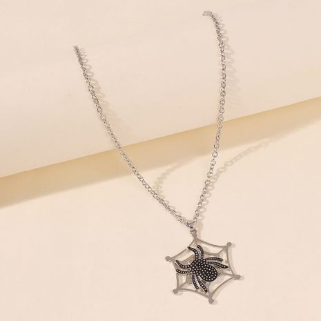 Fashion exaggerated new Halloween spider web necklace funny pendant wholesale NHMD263869's discount tags