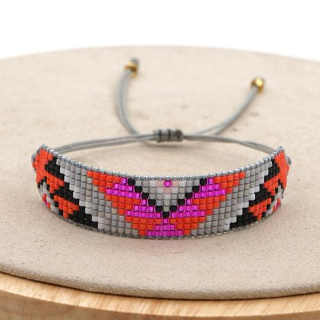 Fashion ethnic style antique rice bead woven geometric bracelet handmade jewelry NHGW263876's discount tags