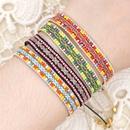 Bracelet en ruban de style ethnique rtro tissage de perles de riz NHGW263885