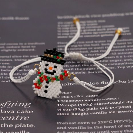 rice beads woven snowman Christmas gift bracelet handmade jewelry for women NHGW263886's discount tags