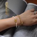 lettre sauvage  la mode R pendentif coeur pche ornement main bracelet en acier titane pour les femmes NHOK263894