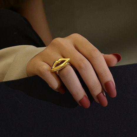 lèvres exagérées femmes index anneaux en acier titane NHOK263910's discount tags
