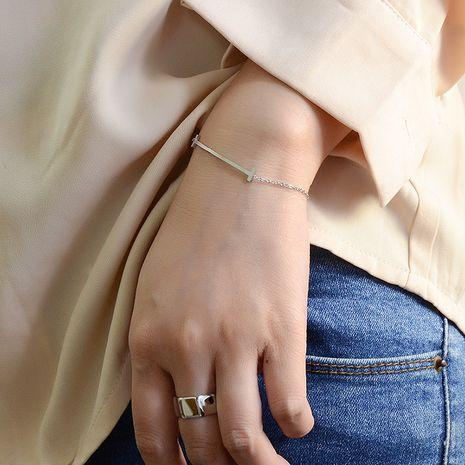 Bracelet en acier au titane de marque incurvé de sourire de niche de nouvelle tendance de mode NHOK263913's discount tags