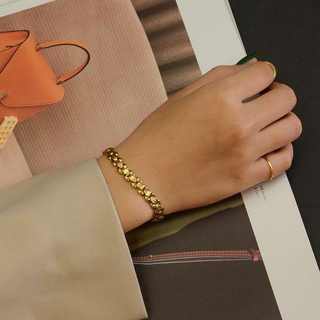 Bracelet en acier titane à chaîne de montre élargie à la main simple à la mode NHOK263930's discount tags