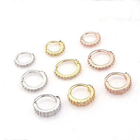 new micro-inlaid zircon nose ring ear bone stud earrings  NHEN263951's discount tags