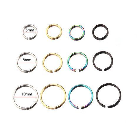 Nuevos pendientes de perforación de hueso de oreja de acero inoxidable 316L anillo de labio nasal multifuncional NHEN263964's discount tags