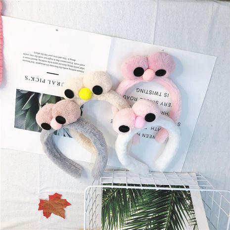 cartoon lamb wool cute big eyes chick plush cute girls headband wholesale NHRH263974's discount tags