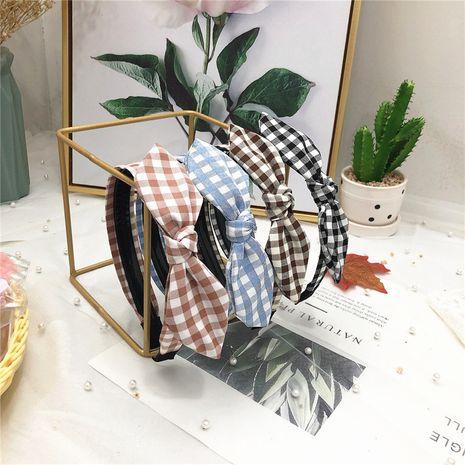 Diadema antideslizante con dientes de celosía nueva coreana, accesorios para el cabello con orejas de conejo con lazo dulce para estudiantes NHRH263976's discount tags