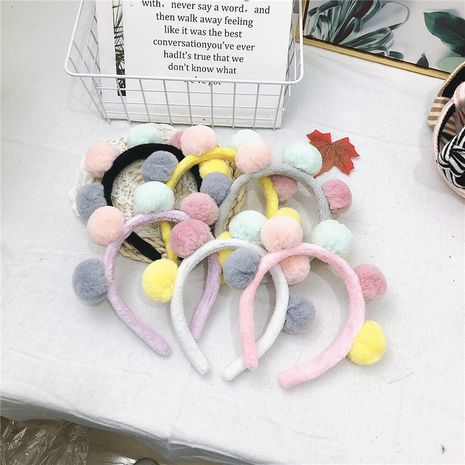 Winter neue koreanische Lammwolle niedliche Farbe Haarball drücken Haar Stirnband NHRH263980's discount tags