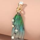 boucles d39oreilles  pompon perles longues simples  fleurs ptales srie mori NHAN263993