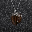 pull chane en acier inoxydable noeud papillon collier pendentif coeur pche NHYL264031