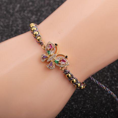 vente chaude nouveau bracelet en cuivre papillon zircon micro-incrusté pour les femmes vente chaude NHYL264042's discount tags