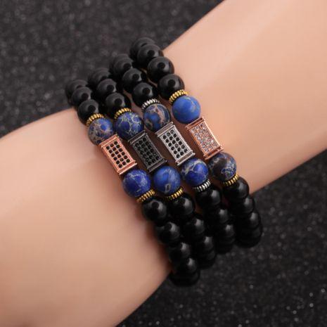 Nouveau bracelet pour homme perlé en pierre brillante de 8 mm en pierre empereur NHYL264049's discount tags