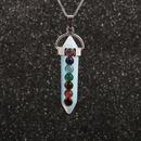 collier pendentif chane sept chakra en acier inoxydable NHYL264064