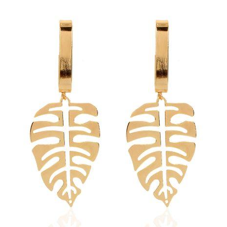 Pendientes largos de oro de aleación de estilo étnico bohemio para mujer NHCT264081's discount tags