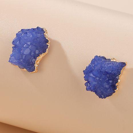 Pendientes pendientes con bordes de resina de piedra natural irregular geométrica accesorios NHGY264605's discount tags