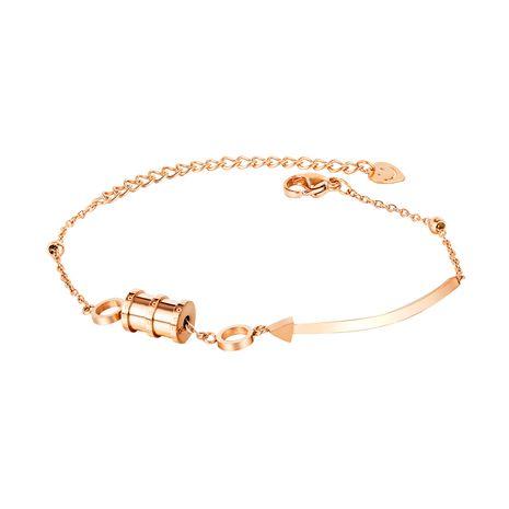vente chaude petite taille en acier au titane coréen simple petite amie transfert perles bracelet pour les femmes NHOP264123's discount tags