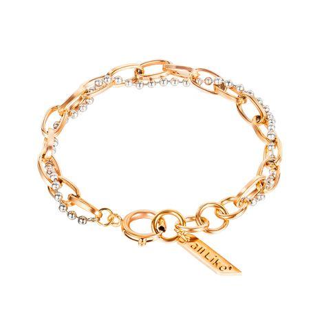 wholesale Corée double couche bague en acier titane dames bracelets accessoires NHOP264124's discount tags