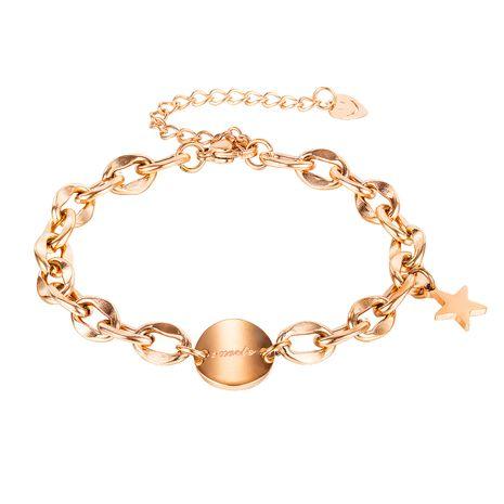 wholesale tendance disque sauvage étoile pendentif dames bracelet en acier titane bijoux NHOP264126's discount tags