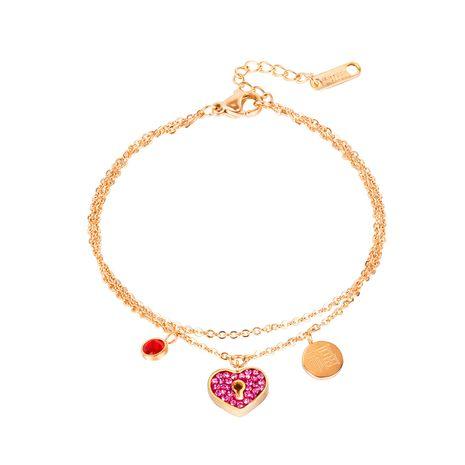 mode sauvage double couche en acier au titane amour diamant bénédiction dames bracelet bijoux NHOP264127's discount tags
