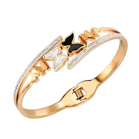 wholesale bracelet en diamant papillon en acier titane bracelet d'accessoires de copines NHOP264131's discount tags