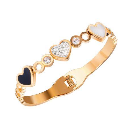 Accessoires de bracelet coréen en gros bracelet en acier titane diamant NHOP264133's discount tags