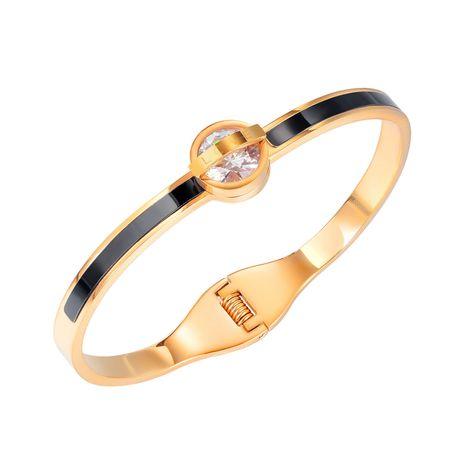 Vente en gros bracelet diamant en acier titane LOVE sauvage NHOP264134's discount tags