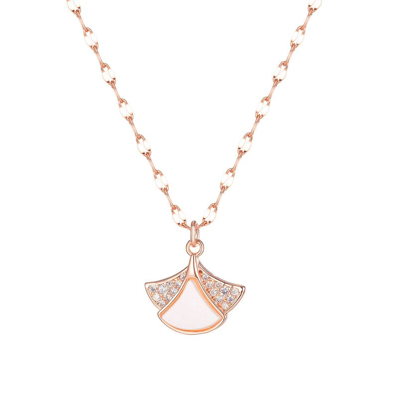 Neue koreanische Muschel Diamant Rock Damen einfache Halskette NHOP264143